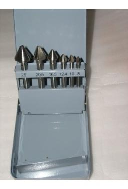 Kegelsenker 8-25 mm 6-teilig HSS