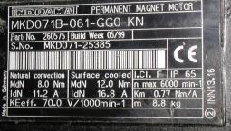 Indramat Servomotor MKD071B-061-GG0-KN, gebraucht