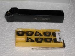 Klemmdrehhalter PWLNR2020K08 inkl. 10 Mitsubishi Wendeplatten