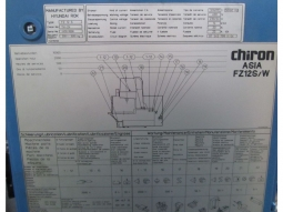 Chiron FZ 12 S Bearbeitungszentrum Fräsmaschine