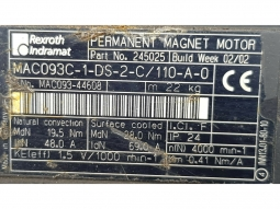 Indramat MAC093C-1-DS-2-C/110-A-0 Servomotor