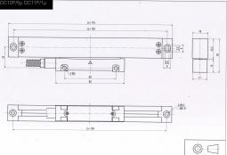 DITRON Glasmaßstab DC10F Mini 80 - 420 mm Auflösung 5µ